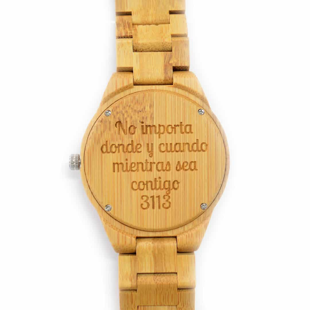 talla 40 bc1b1 a4e62 Reloj de madera de pulsera articulada Shine