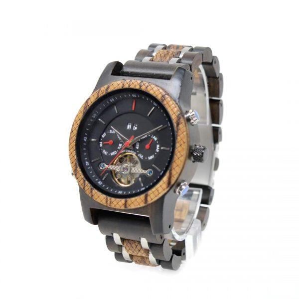 reloj automático de madera Dundee